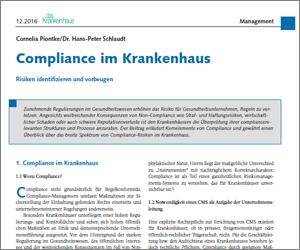Risiken und Verantwortung von Compliance im Krankenhaus