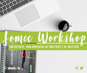 JOMEC Workshop | DIN EN 15224 - eine Alternative zur 9001:2015