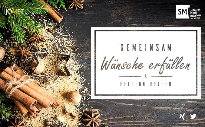 JOMEC Weihnachtsaktion - Unterstützung der Berliner Stadtmission