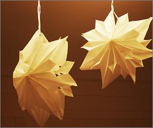 Papier Weihnachtssterne aus Butterbrottüten